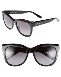Jimmy Choo 'Nurias' 54Mm Retro Sunglasses - Teal Spotted - Lyst