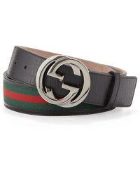 Gucci Interlocking G Belt - Lyst