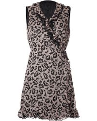 Anna Sui Dove Print Dress - Lyst