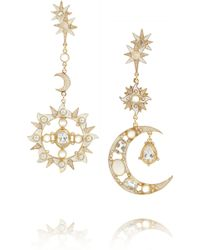Percossi Papi Diego Sun and Moon Goldplated Multistone Earrings - Lyst