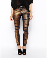 Vivienne Westwood Anglomania Jeans Skinny Jeans With Bondage Print - Lyst