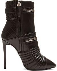 Giuseppe Zanotti Olinda Zipper Leather Booties - Lyst