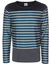 Paul Smith Petrol Blue Breton Stripe Cotton-Blend Sweater - Lyst