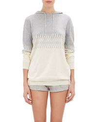 Band of Outsiders - Zig-Zag Intarsia Knit Hoodie-Grey Size 2 (4 Us) - Lyst