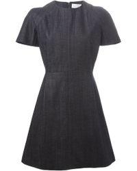 Victoria Beckham Short Denim Dress - Lyst