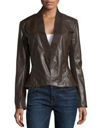 Bagatelle Faux-Leather Peplum Jacket - Lyst