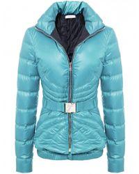 Versace Short Belted Puffa Jacket - Lyst