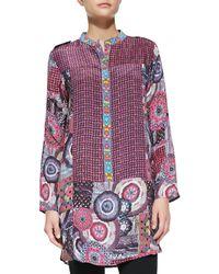 Tolani Sam Silk Printed Longsleeve Tunic - Lyst