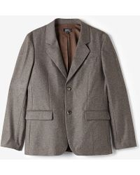 A.P.C. Wool Tuxedo Jacket - Lyst
