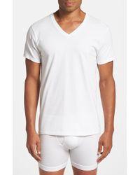 Calvin Klein Cotton V-Neck T-Shirt, (3-Pack) - Lyst