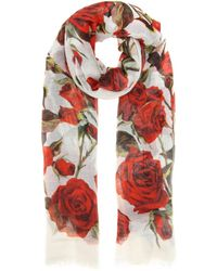 Dolce & Gabbana Printed Scarf floral - Lyst