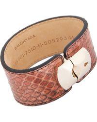 Balenciaga - Python Padlock Bracelet-Colorless - Lyst