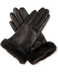 Ugg Classic Leather Gloves - Lyst