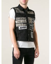 Diesel Sleeveless Denim Jacket - Lyst
