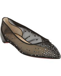 Christian Louboutin Body Strass Jeweled Flats - Lyst