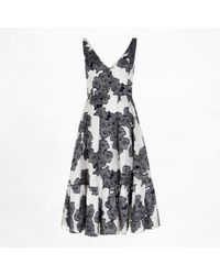 Erdem Gracie Dress Hibiya Orchid floral - Lyst