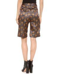 Rochas - Printed Shorts - Indigo - Lyst