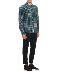 Band Of Outsiders Gingham Check Flannel Shirt Jacket - Lyst