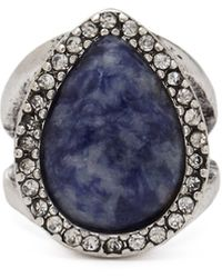 Forever 21 Faux Stone Cutout Ring - Lyst