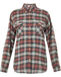 Etoile Isabel Marant Vadisse Checked Flannel Shirt - Lyst