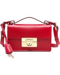 Ferragamo Aileen Shoulder Bag  Rosso - Lyst