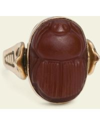 Erica Weiner - Egyptian Revival Carnelian Scarab With Cobra Shoulders - Lyst