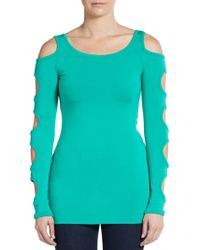 Bailey 44 Hole-Detail Knit Top - Lyst