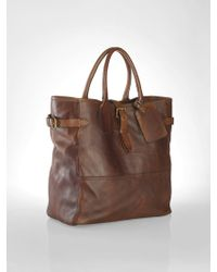 Polo Ralph Lauren Leather Tote - Lyst