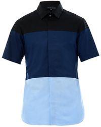 Jonathan Saunders Tony Colourblock Cotton Shirt - Lyst