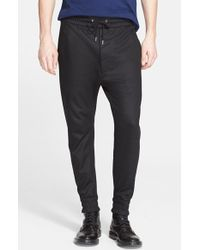 Helmut Lang Men'S Coated Cotton Terry Sweatpants - Lyst