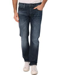 G-star Raw Attacc Washed Blue Straight Jeans - Lyst