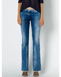 Patrizia Pepe Bell-Bottom Jeans In Cotton Stretch Denim - Lyst