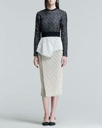 Proenza Schouler Long-Sleeve Peplum Dress - Lyst
