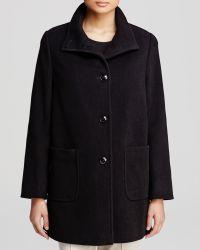 Basler - Coat - High Neck Button - Lyst
