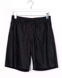 DROMe Black Perforated Leather Short - Lyst