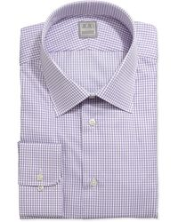 Ike Behar Longsleeve Check Dress Shirt Purple - Lyst