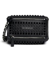Givenchy | 'pandora' Velvet Stud Leather Wristlet Pouch | Lyst
