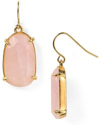 Ralph Lauren Palm Beach Oval Drop Earrings - Lyst