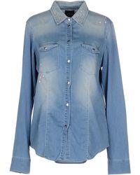 DENIM - Denim shirts Twin-Set Cheap Sale Fake Cs59K3JYo