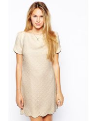 Traffic People Cloud Watching Scallop Shift Dress - Lyst