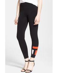 T By Alexander Wang Logo Leggings - Lyst