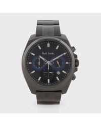 Paul Smith Limited Edition Black 'Final Eyes' Chronograph Watch black - Lyst