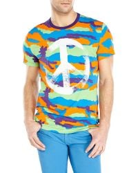 Love Moschino Multicolor Camouflage Tee - Lyst