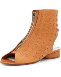 Maison Margiela Perforated Leather Summer Bootie - Lyst