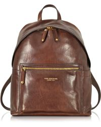 The Bridge - Sfoderata Lux Uomo Marrone Leather Backpack - Lyst