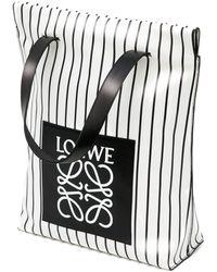 Loewe Pre-order Striped Logo Shopper Bag - Lyst