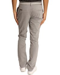 Eleven Paris Charlie Chinos With Grey Cord Belt - Lyst