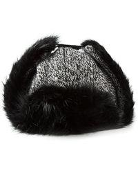 Moncler Knitted Ushanka Hat - Lyst