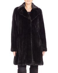 The Fur Salon | Mink Fur Let-out Coat | Lyst