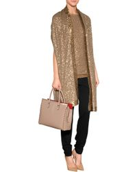 Donna Karan New York Cashmere Sequined Tunic - Lyst